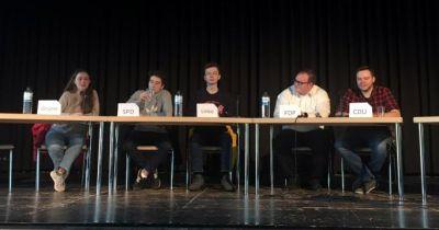 Podiumsdiskussion am Gymnasium Bondenwald