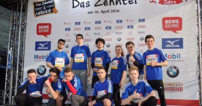 Bondenwald-Schüler laufen vor 800.000 Zuschauern