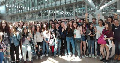 Spanische Austauschschüler am Bondenwald